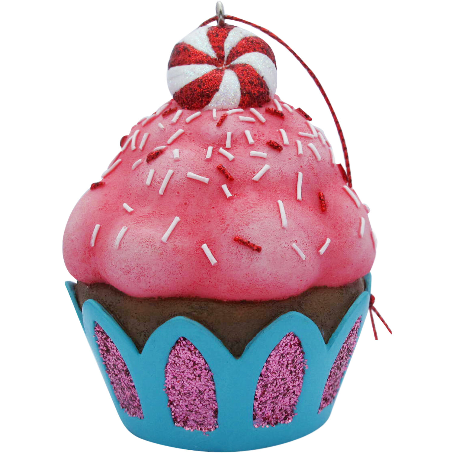 The Holiday Aisle Peppermint Top Cupcake Christmas Tree Ornament Reviews Wayfair