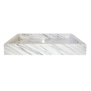 Affordable Carrara Marble Rectangular Vessel Bathroom Sink By Eden Bath