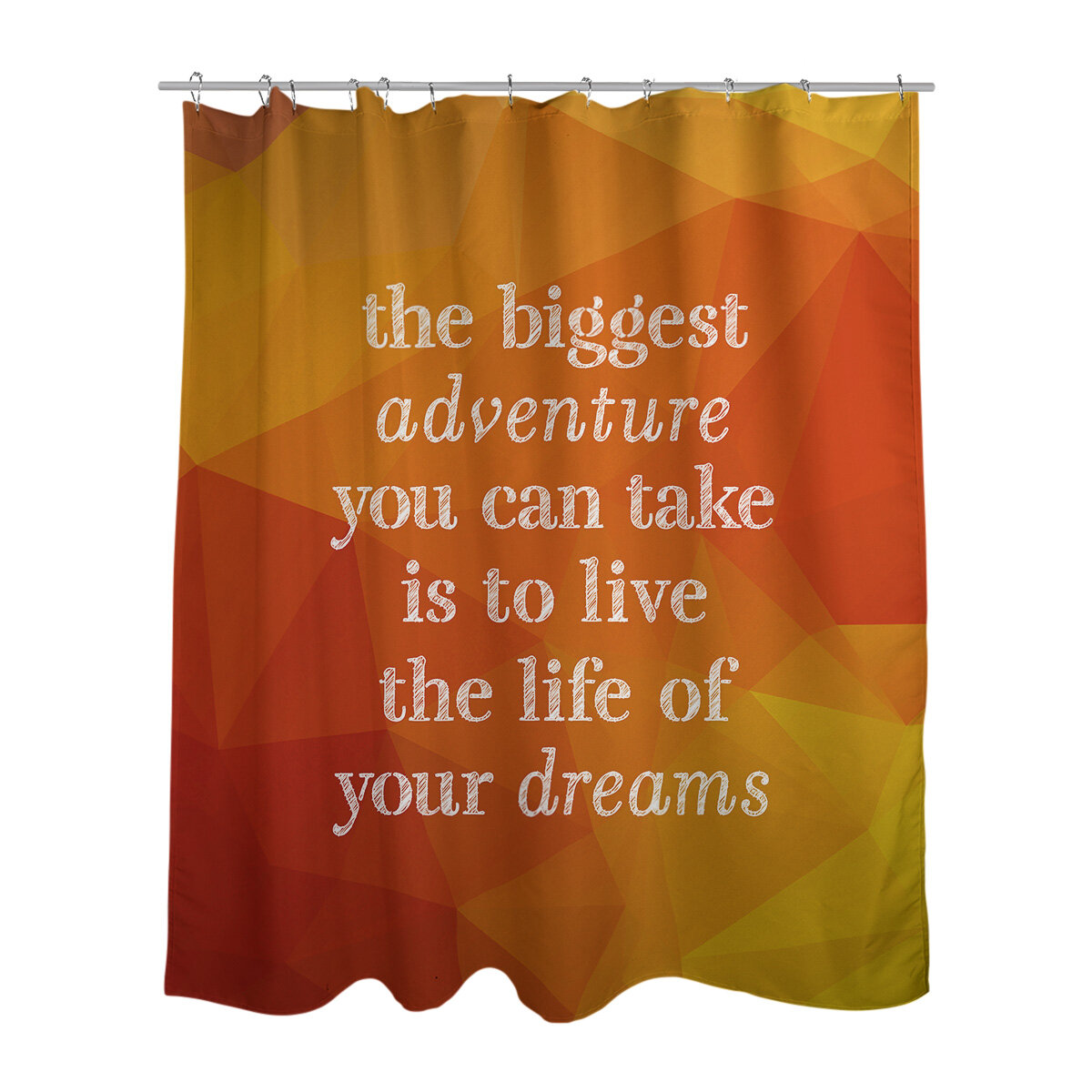East Urban Home Faux Gemstone The Biggest Adventure Quote Shower Curtain Set Wayfair