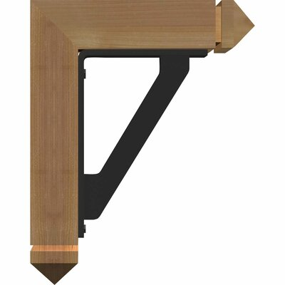 3 12W x 11 12D x 14H 2 Thick Triple Brace Arts and Crafts Ironcrest Ekena Millwork Color Douglas Fir Finish Smooth Size 342