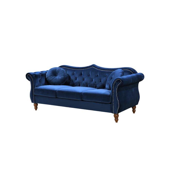 Awe Inspiring Evianna Nailhead Chesterfield Sofa Uwap Interior Chair Design Uwaporg
