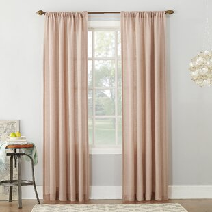 Berwick Linen Blend Solid Semi-Sheer Rod Pocket Single Curtain Panel by Eider & Ivory