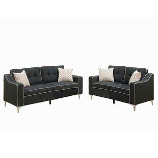 Black Living Room Sets You\'ll Love   Wayfair