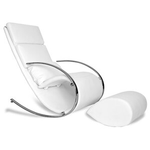 Chloe Rocking Chair and Ottoman by Whiteline..