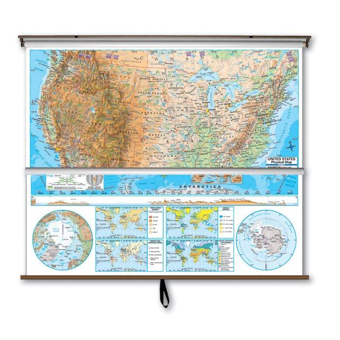 Advanced Physical Map Combo - U.S. / World