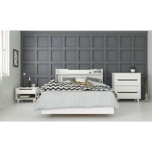 League Platform 4 Piece Bedroom Set
