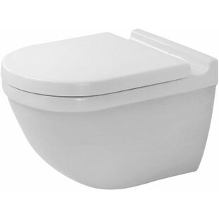 Duravit Starck 3 1.28 GPF (Water Efficient) Elongated Wall Mounted Toilet with High Efficiency Flush (Seat Not Included)