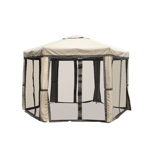 LB International Promo Hex 12 Ft. W x 10 Ft. D Aluminum Patio Gazebo