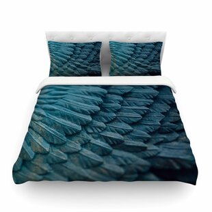 Ombre Angel Blue Celestial by Ann Barnes Featherweight Duvet Cover