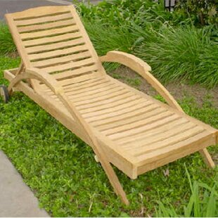Innova Reclining Teak Chaise Lounge