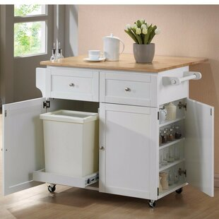 Auton Modish Dual Tone Wooden Kitchen Cart August Grove