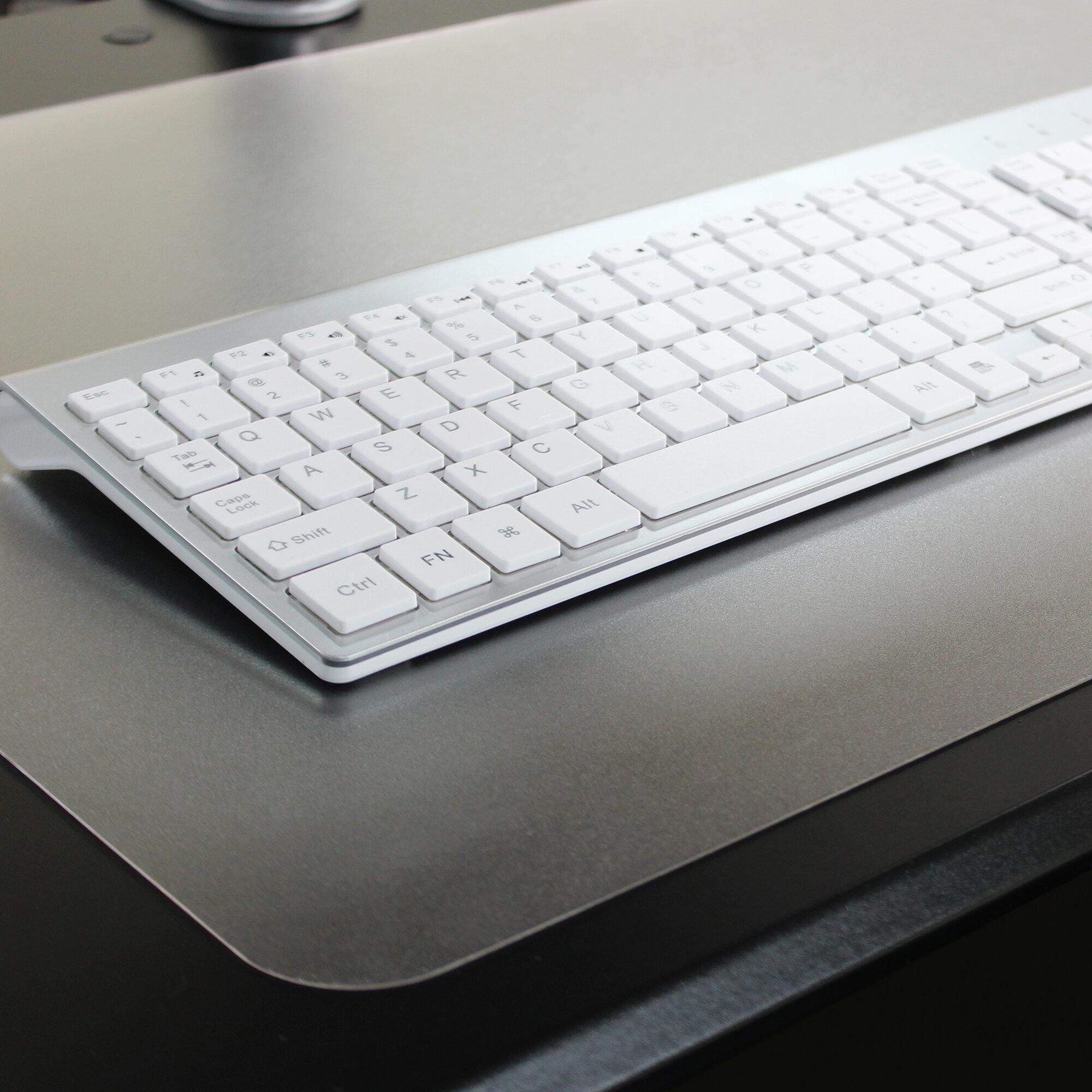 "19/"" x 24 Rectangular Strong Polycarbonate Desktex Clear Desk Protector Mat"