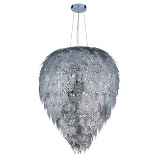 Bungalow Rose Wren 9-Light Crystal Chandelier