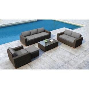 Everly Quinn Glen Ellyn 5 Piece Sofa Set with Sunbrella Cushion