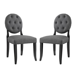 Broseley Button Upholstered Dining Chair (Set Of 2) by House of Hampton Modern