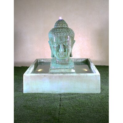 Serene Concrete Buddha Courtyard Fountain Giannini Garden Ornaments