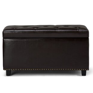 Coupon Hannah Faux Leather Storage Bench BySimpli Home