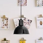 Cocoweb Peony Blackspot LED Cone Pendant