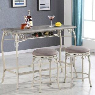 Calzada 3 Piece Counter Height Dining Set