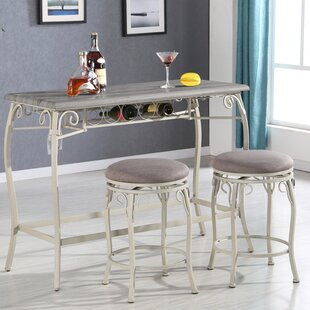 Portal 3 Piece Counter Height Dining Set Ophelia & Co.
