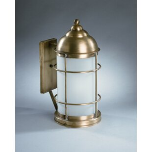 Albert 1-Light Outdoor Wall Lantern by Longshore Tides