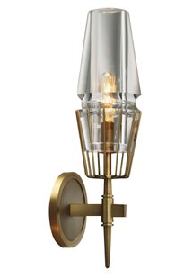 Kells 1-Light Armed Sconce by Everly Quinn