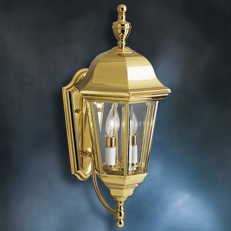 Lifebright 2 light outdoor wall lantern