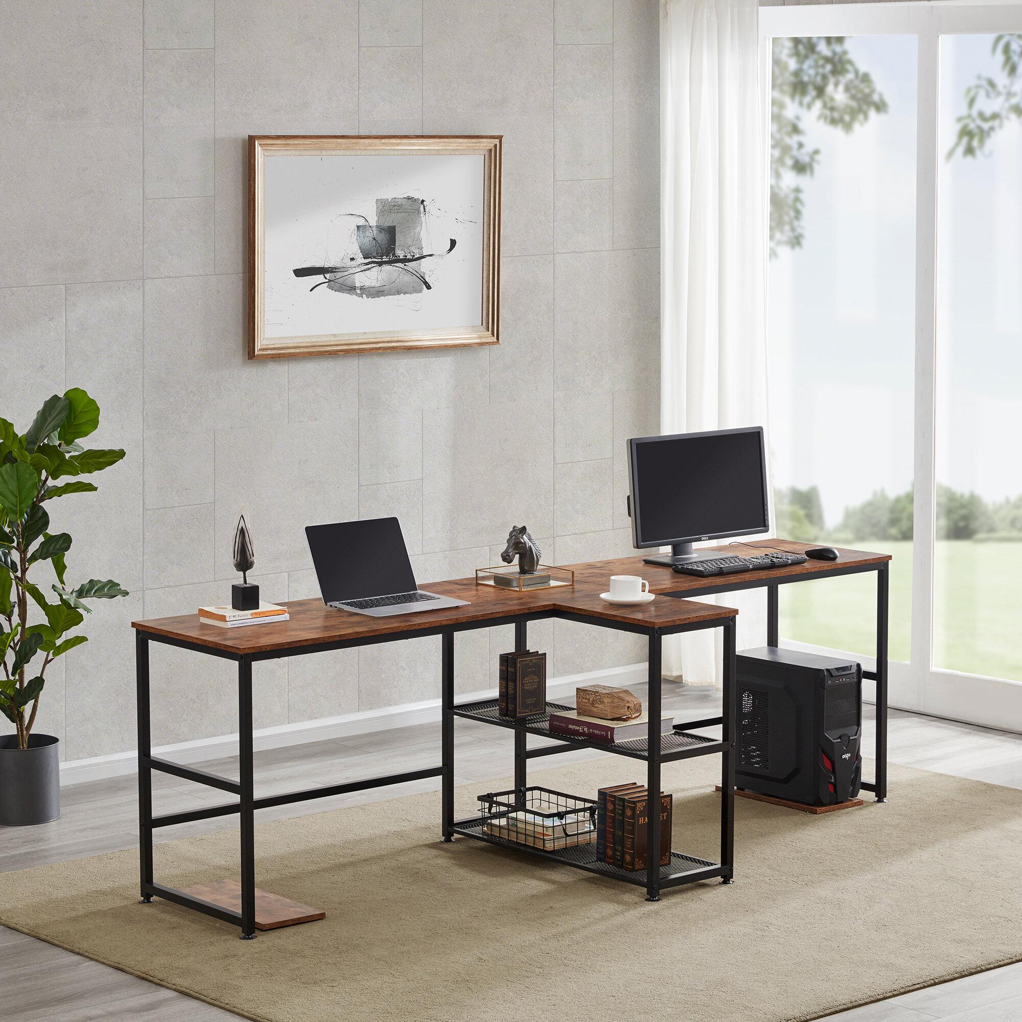 Inbox Zero Home Office Two Person Desk Wayfair