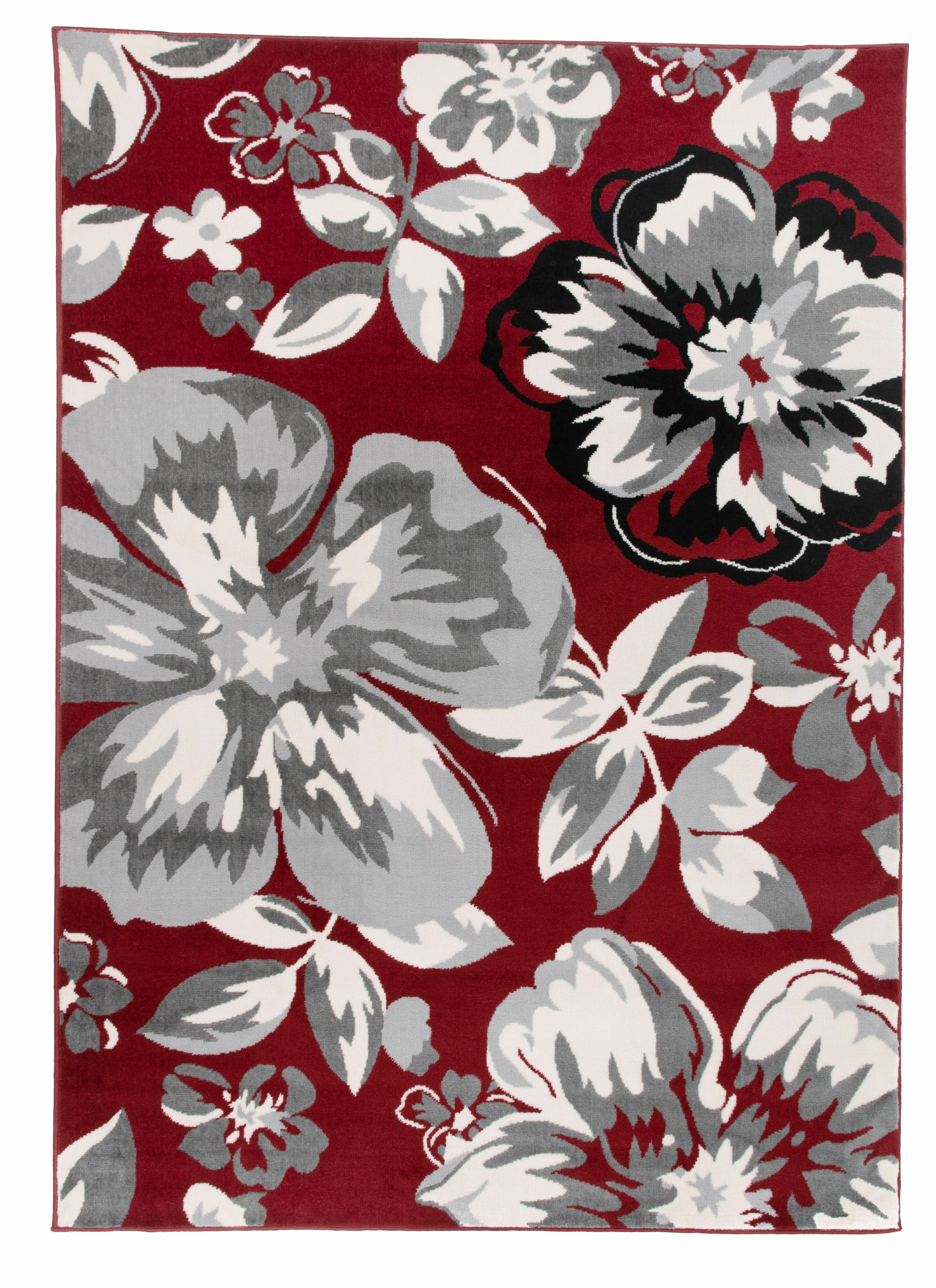 Ebern Designs Reade Fl Red Gray