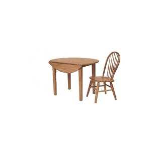 Bar Height Extendable Drop Leaf Solid Wood Dining Table