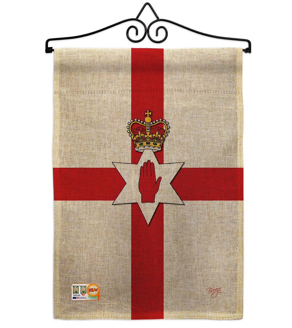 Breeze Decor Northern Ireland Of The World 2 Sided Burlap 19 X 13 In Garden Flag Wayfair