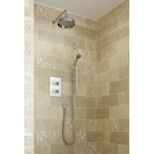 Thermostatic Shower with Dual Shower Head Bristan Chrome