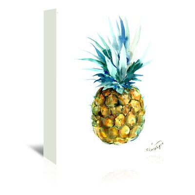 Bay Isle Home 'Pineapple' Print Format: Wrapped Canvas, Size: 8 H x 10 W x 1.5D