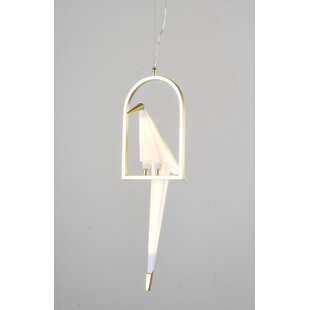 Orren Ellis Pitchford LED Single Bird Novelty Pendant