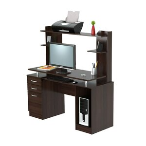 Work Center Computer Desk with Hutch