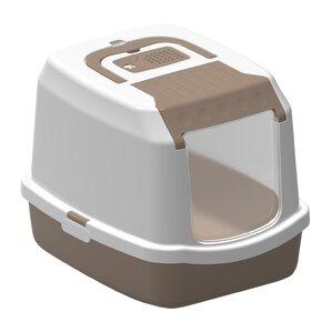Covered Standard Litter Box  sc 1 st  Wayfair & White Litter Boxes u0026 Enclosures Youu0027ll Love | Wayfair Aboutintivar.Com