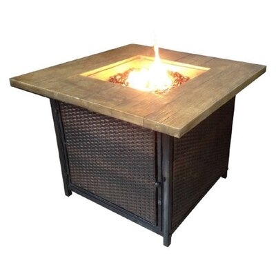 Margo Garden Products Stone Propane Outdoor Fireplace