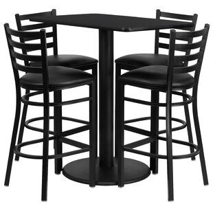 Latitude Run Deloris 5 Piece Pub Table Set