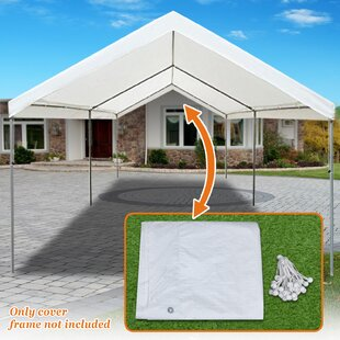 Strong Camel Carport 20 Ft. W x 10 Ft. D Patio Gazebo Canopy