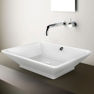 Top Reviews Ceramic Rectangular Vessel Bathroom Sink with Overflow By American Imaginations