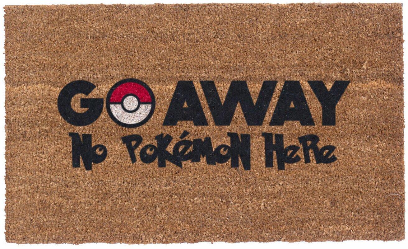 Charming Colored Pokemon Go Away Doormat