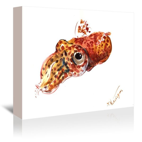 East Urban Home Squid 2 Painting Print On Gallery Wrapped Canvas Wayfair