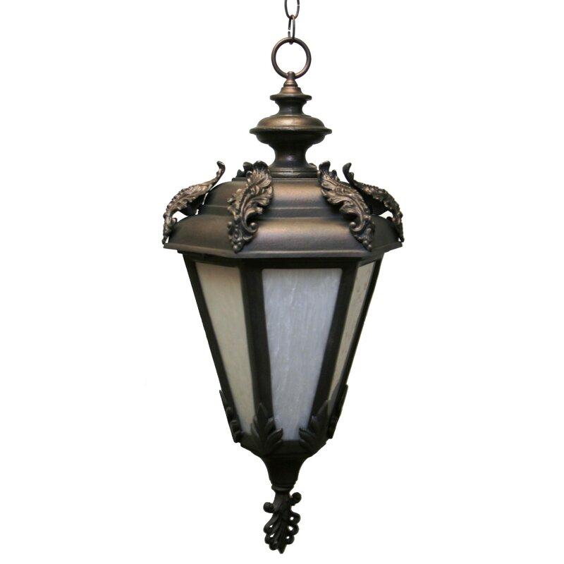 Alcott Hill Petrey 3 Bulb Outdoor Hanging Lantern Wayfair