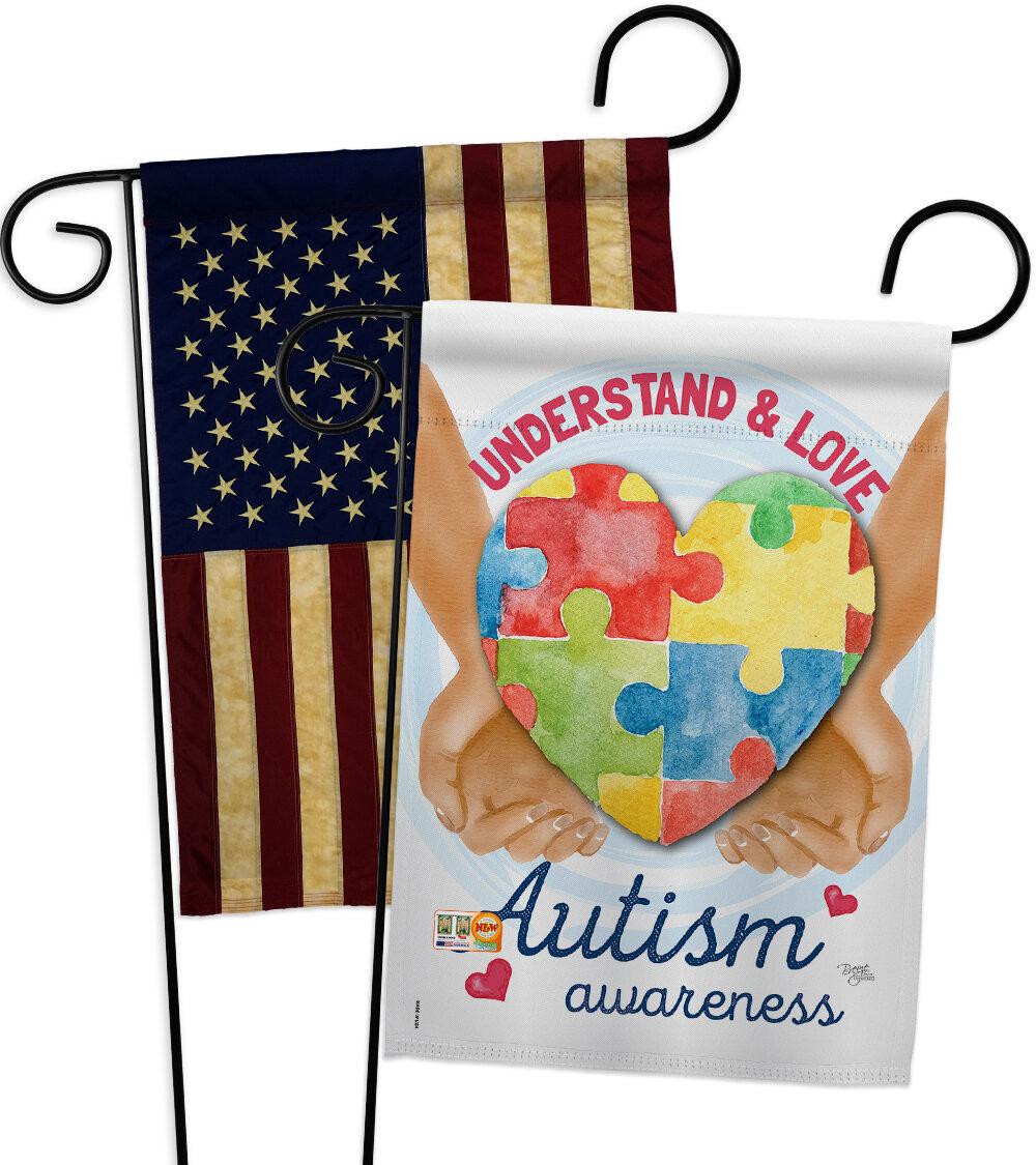Breeze Decor Understand Autism Awareness Impressions Decorative 2 Sided Polyester 19 X 13 In 2 Piece Garden Flag Set Wayfair