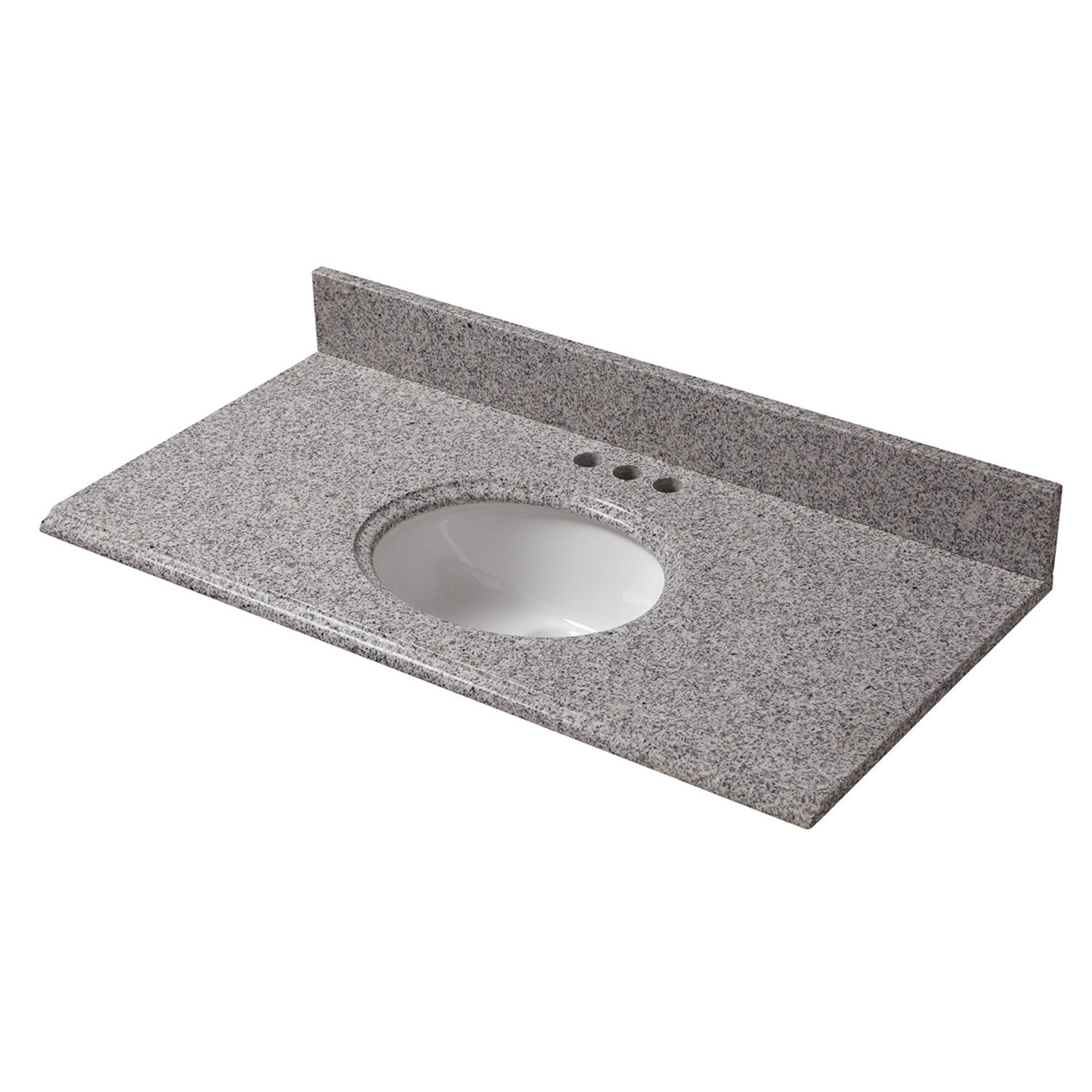 Cahaba Granite 37 Single Bathroom Vanity Top Wayfair