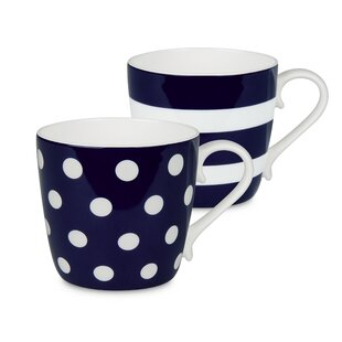 Stiltner Dots and Stripes Mug (Set of 2)
