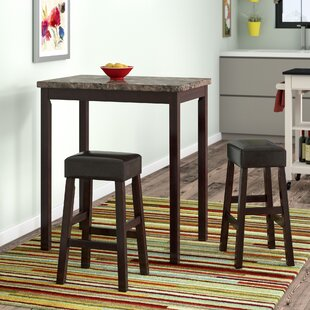 Deitch 3 Piece Counter Height Dining Set Latitude Run