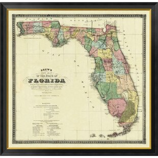 Framed Map Of Florida Wayfair