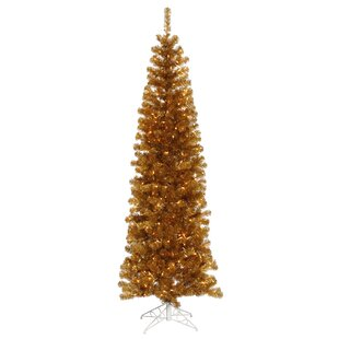 4 antique gold pine artificial christmas tree with 150 clearwhite lights with stand - Gold Christmas