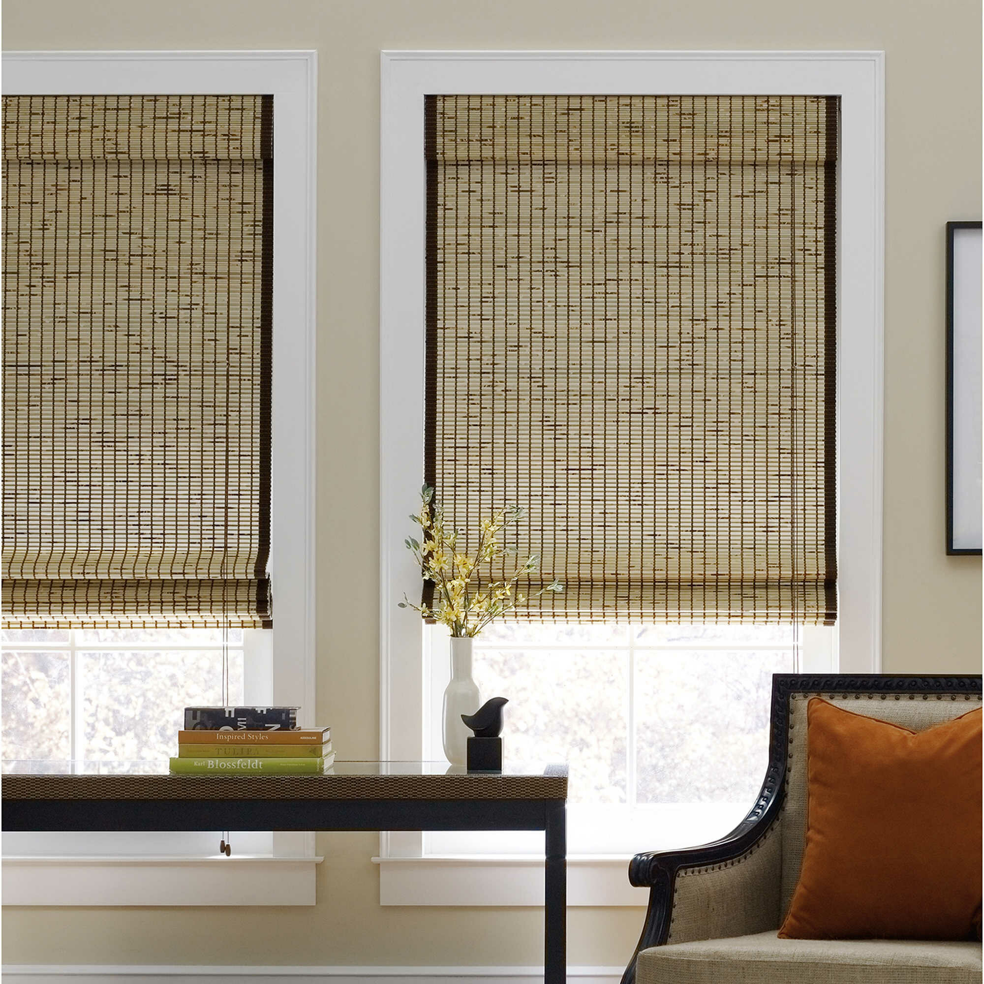 home bamboo roman on valance shade blinds free orders petite product shipping rustique over overstock inch height garden with arlo